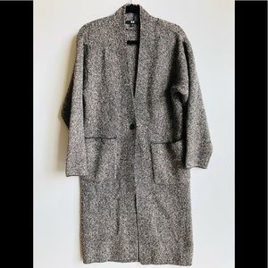 Uniqlo Wool Blend Open Front Cardigan